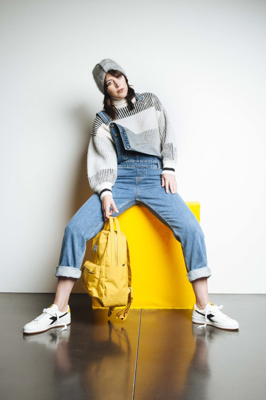 catherine vereecke - vrouw jeans geel